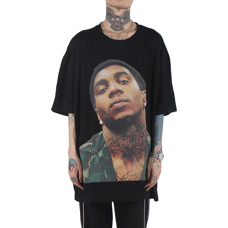 [$ SHOP SALE] [VETEMEMES] LIL B OVERSIZED T-SHIRT (BLACK)