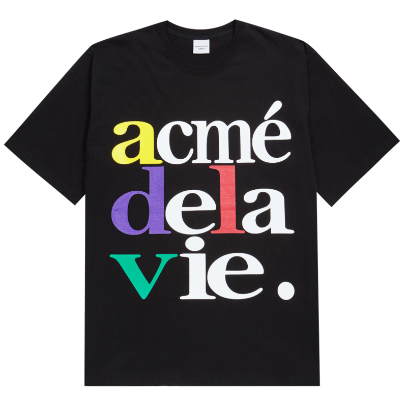 [ACME DE LA VIE] ADLV 4COLOR BIG LOGO TEE (BLACK)