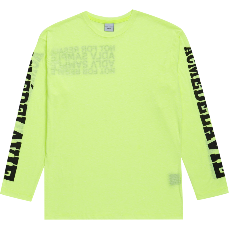 [ACME DE LA VIE] ADLV NOT FOR RESALE LONG SLEEVE TEE (NEON GREEN)