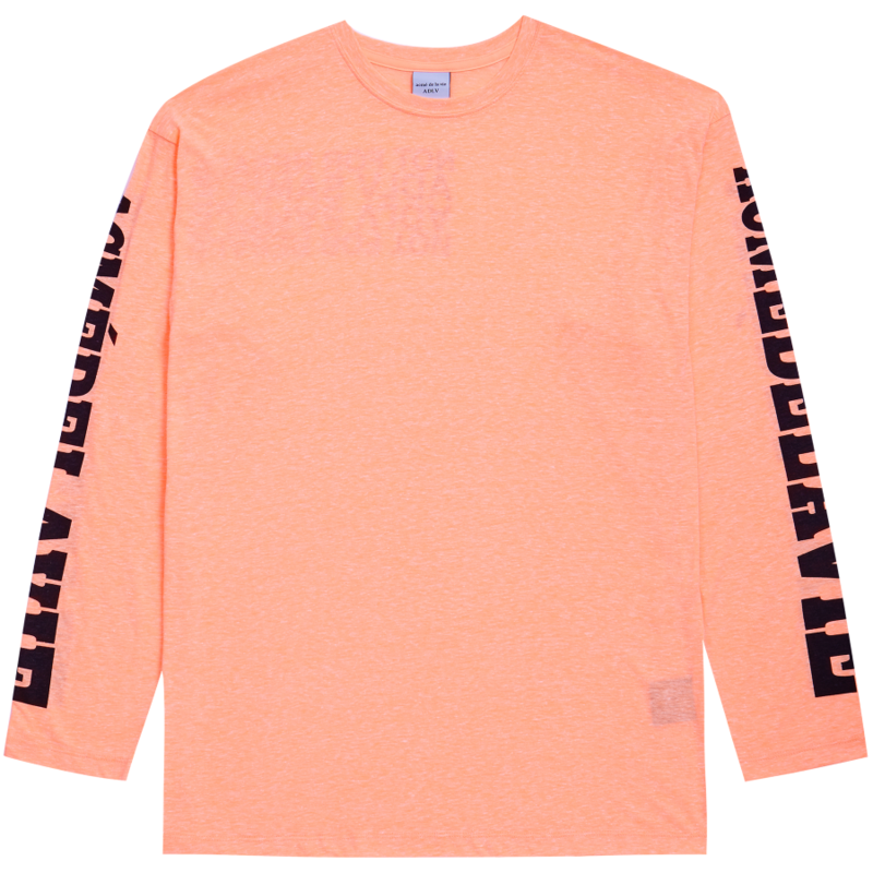 [ACME DE LA VIE] ADLV NOT FOR RESALE LONG SLEEVE TEE (NEON ORANGE)