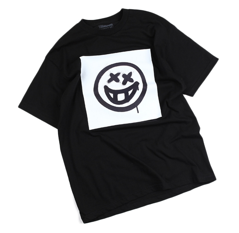 [18 HOUR] 15#GRAFFITI SMILE SHORT TEE