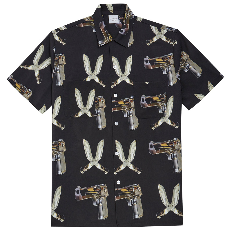 [ACME DE LA VIE] ADLV DIGITAL PRINTING SHIRT BLACK