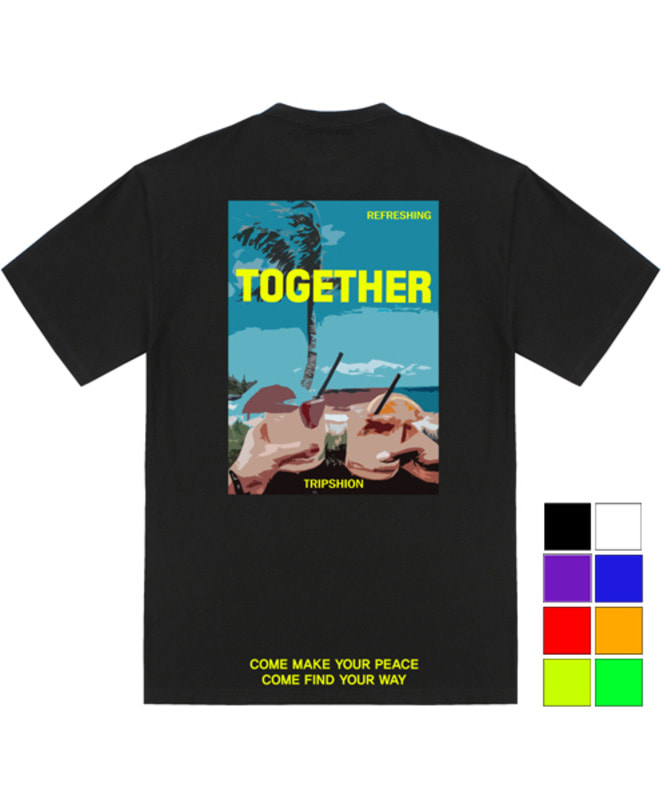 [TRIPSHION]  REFRESHING BEACH T-SHIRTS - 8 COLORS