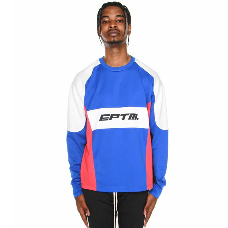 MOTOCROSS COLOR BLOCK LONG SLEEVES TEE (BLUE)