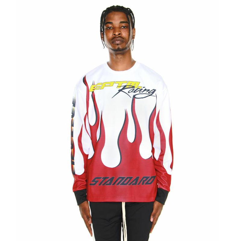RACING LONG SLEEVES TEE (WHITE/RED)