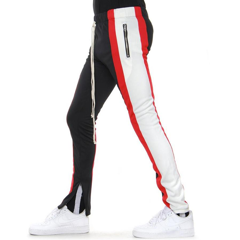 COLOR BLOCK TRACK PANTS 5.0 (BLACK/RED/WHITE)