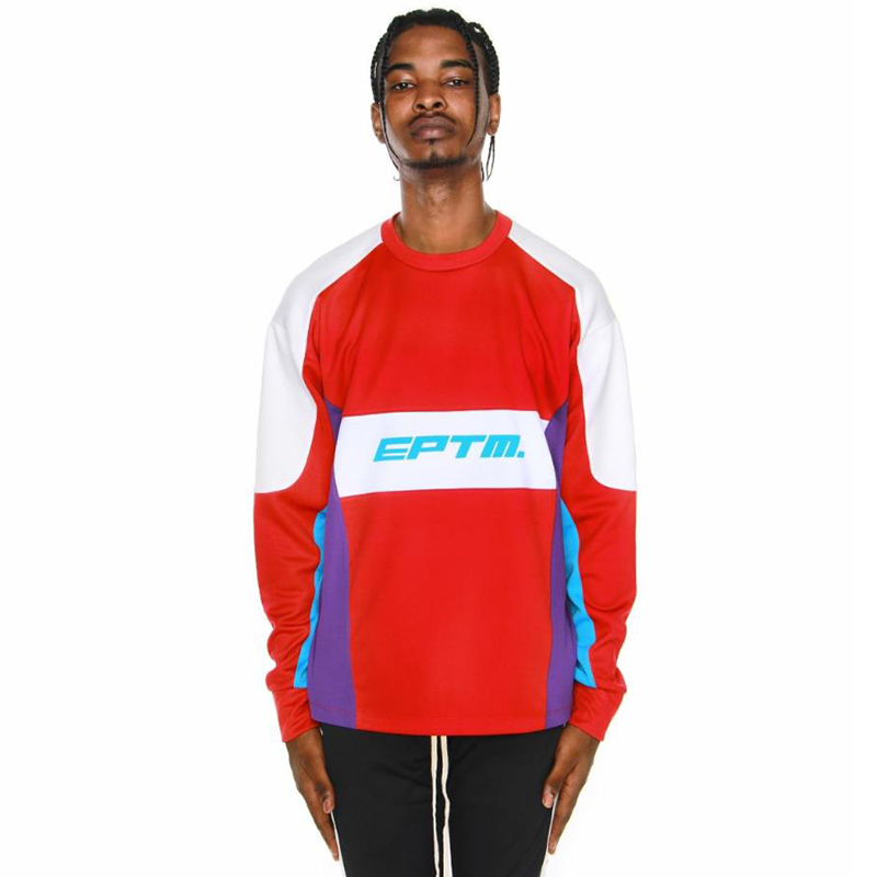 MOTOCROSS COLOR BLOCK LONG SLEEVES TEE (RED)