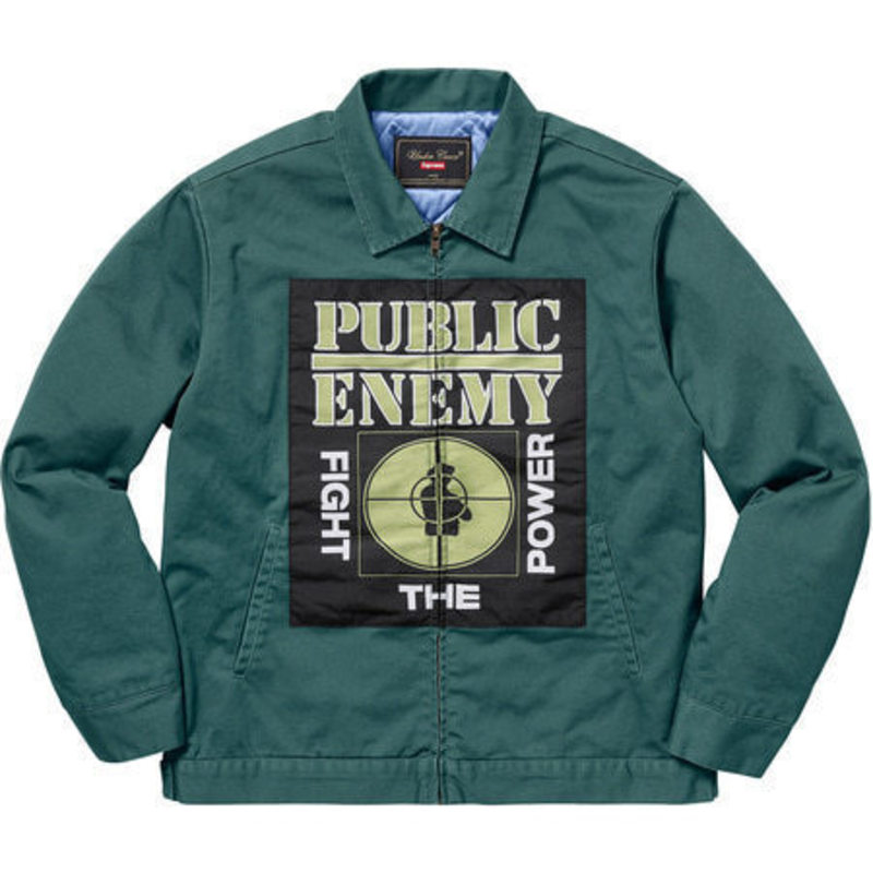 [SUPREME] SUPREME X UNDERCOVER PUBLIC ENEMY WORK JACKET TEAL