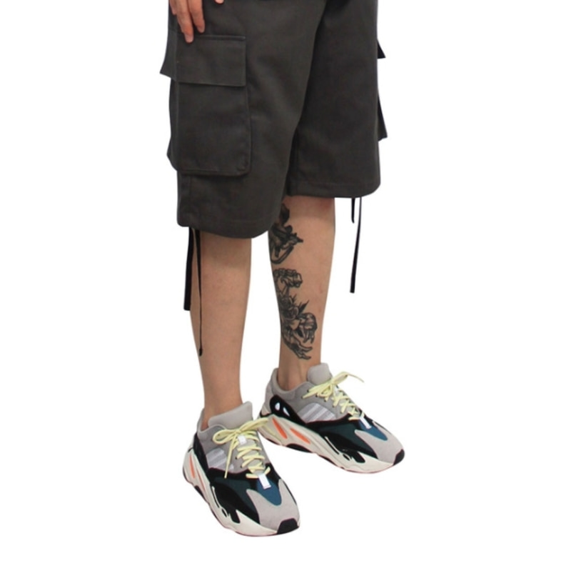 [CLACO] MILITARY CARGO PANTS 1/2 (GREY)