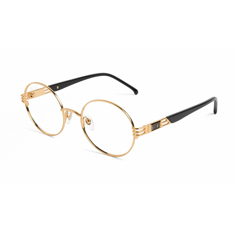 IRIS BLACK & GOLD CLEAR LENS GLASSES