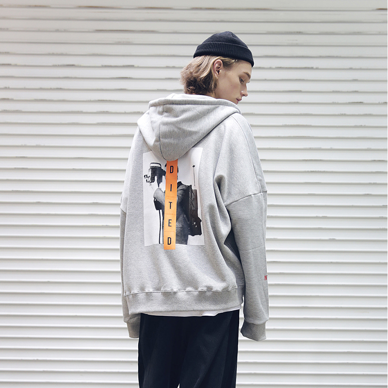 [MASSNOUN] BROADCAST OVERSIZED HOOD ZIP-UP MFEZP001-GR