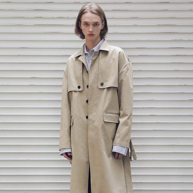 [MASSNOUN] D-HIDEN SINGLE TRENCH COAT MFECT001-BG