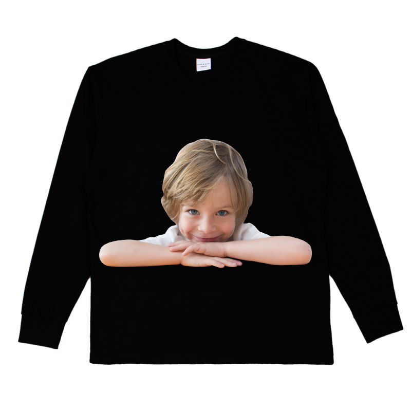 [ACME DE LA VIE] ADLV BABY FACE LONG SLEEVE T-SHIRT BLACK 베이비 페이스 긴팔 책상에 블랙