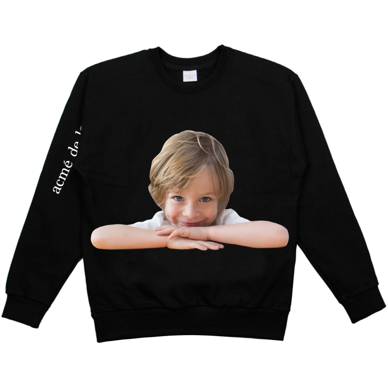 [ACME DE LA VIE] ADLV BABY FACE SWEAT SHIRTS BLACK 베이비 페이스 맨투맨 책상에 블랙