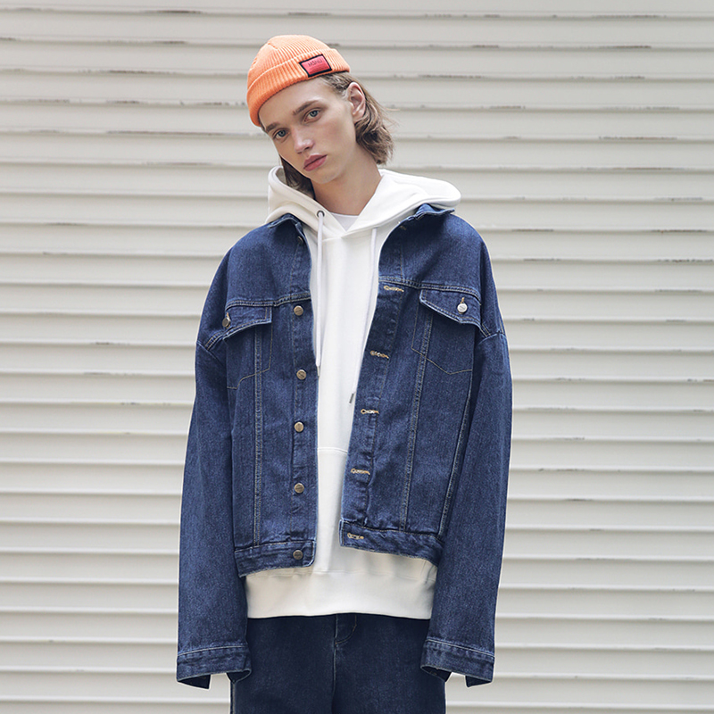 [MASSNOUN] SB OVERSIZED DENIM JACKET MFEJK005-BL