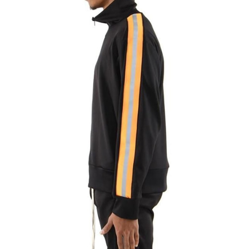 [$ SHOP SALE] [EPTM] REFLECTIVE TRACK JACKET (BLACK/ORANGE)