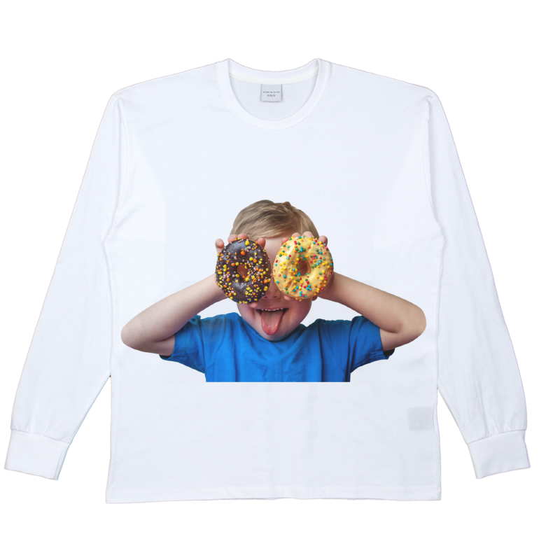 [ACME DE LA VIE] ADLV BABY FACE LONG SLEEVE T-SHIRT WHITE 베이비 페이스 긴팔 도너츠2 화이트