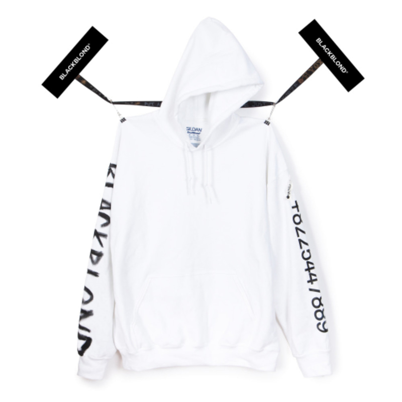 [BLACKBLOND] BBD GRAFFITI NUMBER HOODIE (WHITE)