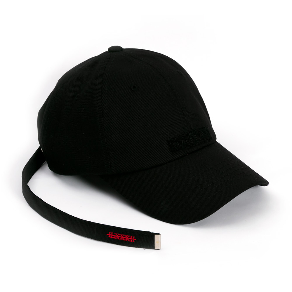 [BLACKBLOND] BBD PATCH LONG STRAP CAP (BLACK)