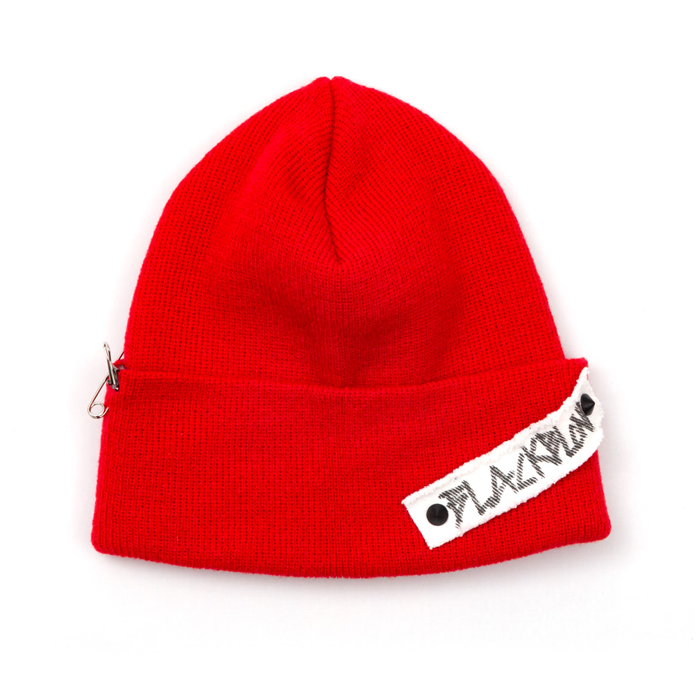 [BLACKBLOND] BBD SIDE PATCH LONG BEANIE (RED)