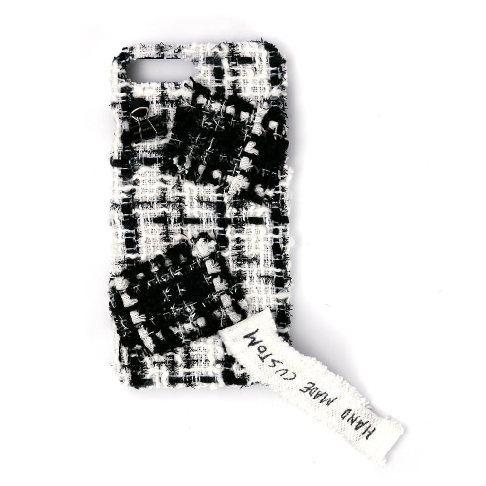[BLACKBLOND] BBD TWEED IPHONE CASE 7+/8+ (WHITE)