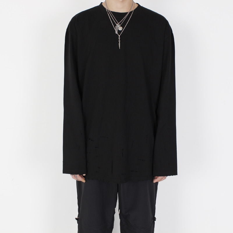 [BURJ SURTR] VINTAGE LONG SLEEVE BLACK