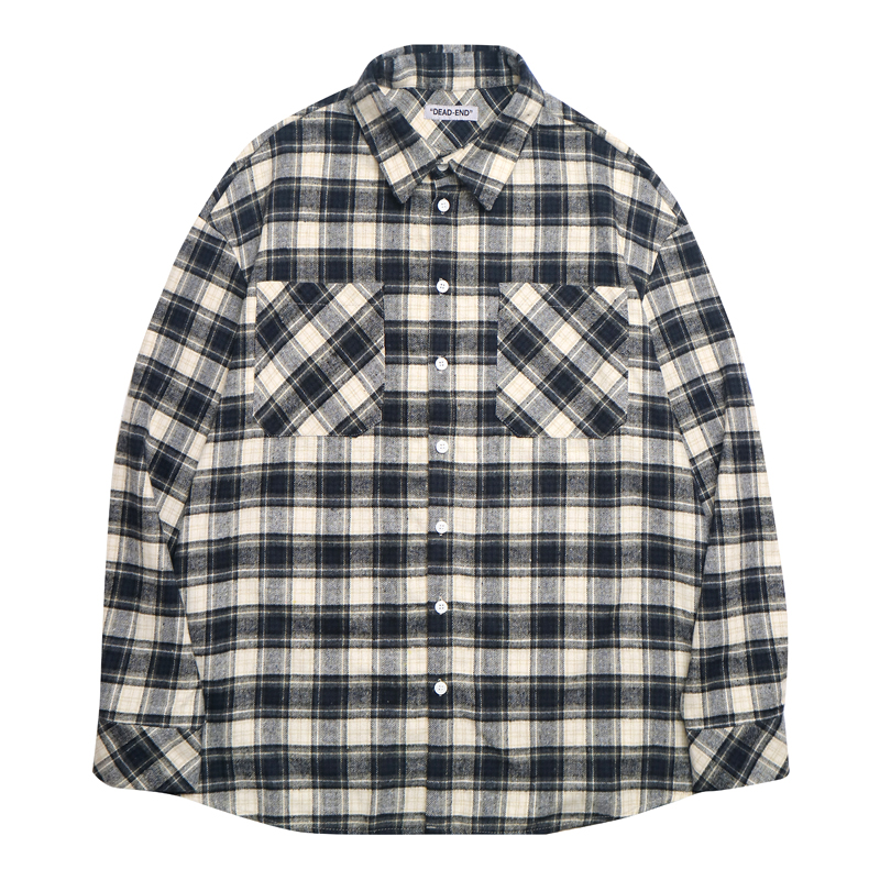 [DEADEND] NAVY FLANNEL SHIRTS