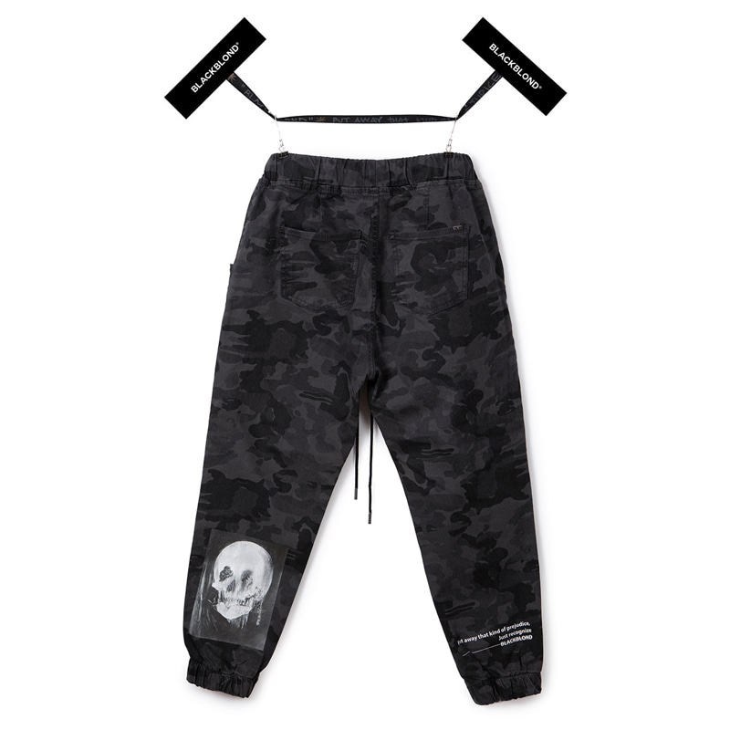 [BLACKBLOND] BBD HERMOSO CAMO JOGGER PANTS (GREY)