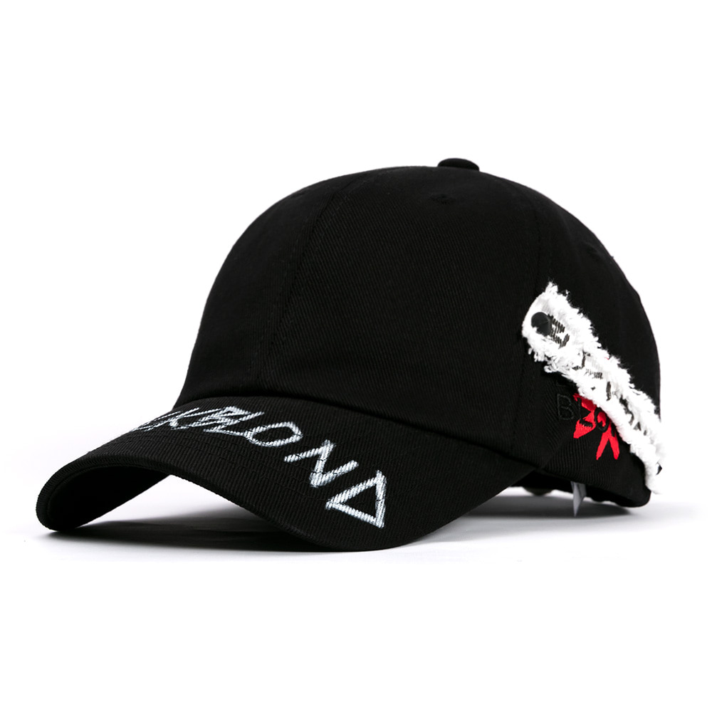 [BLACKBLOND] BBD SIDE PATCH GRAFFITI LOGO CAP (BLACK)