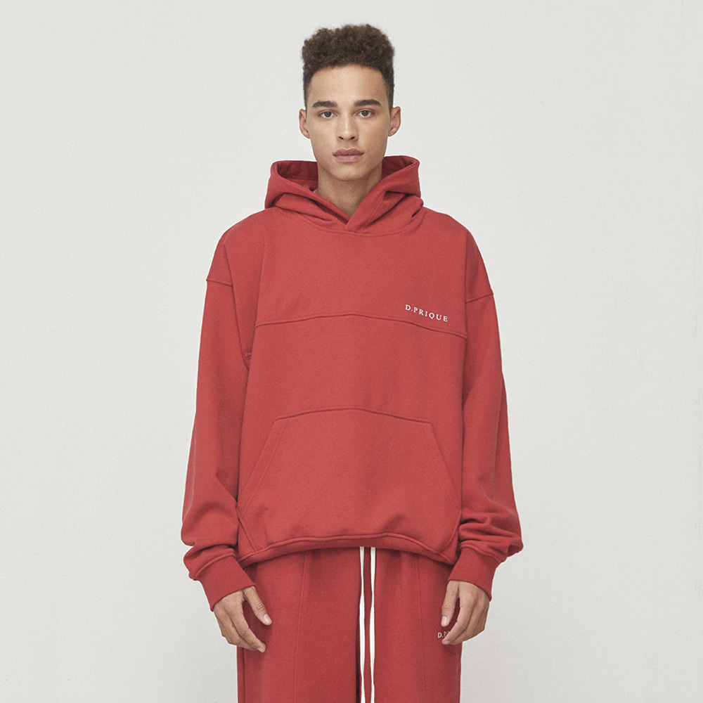 OVERSIZED LOGO HOODIE (RED)
