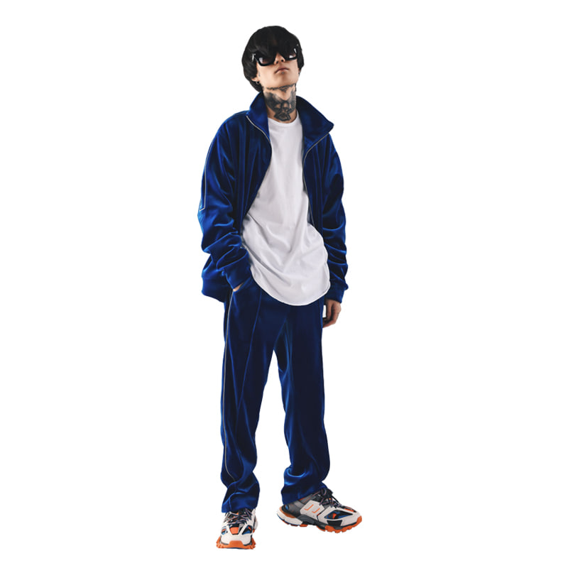 REFLECT VELVET TRACK SUIT (ROYAL BLUE)