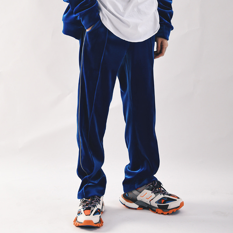 REFLECT VELVET TRACK PANTS (ROYAL BLUE)