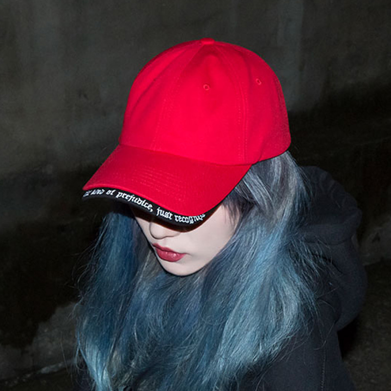 [BLACKBLOND] BBD REVOLUTION DOUBLE VISOR CAP (RED)
