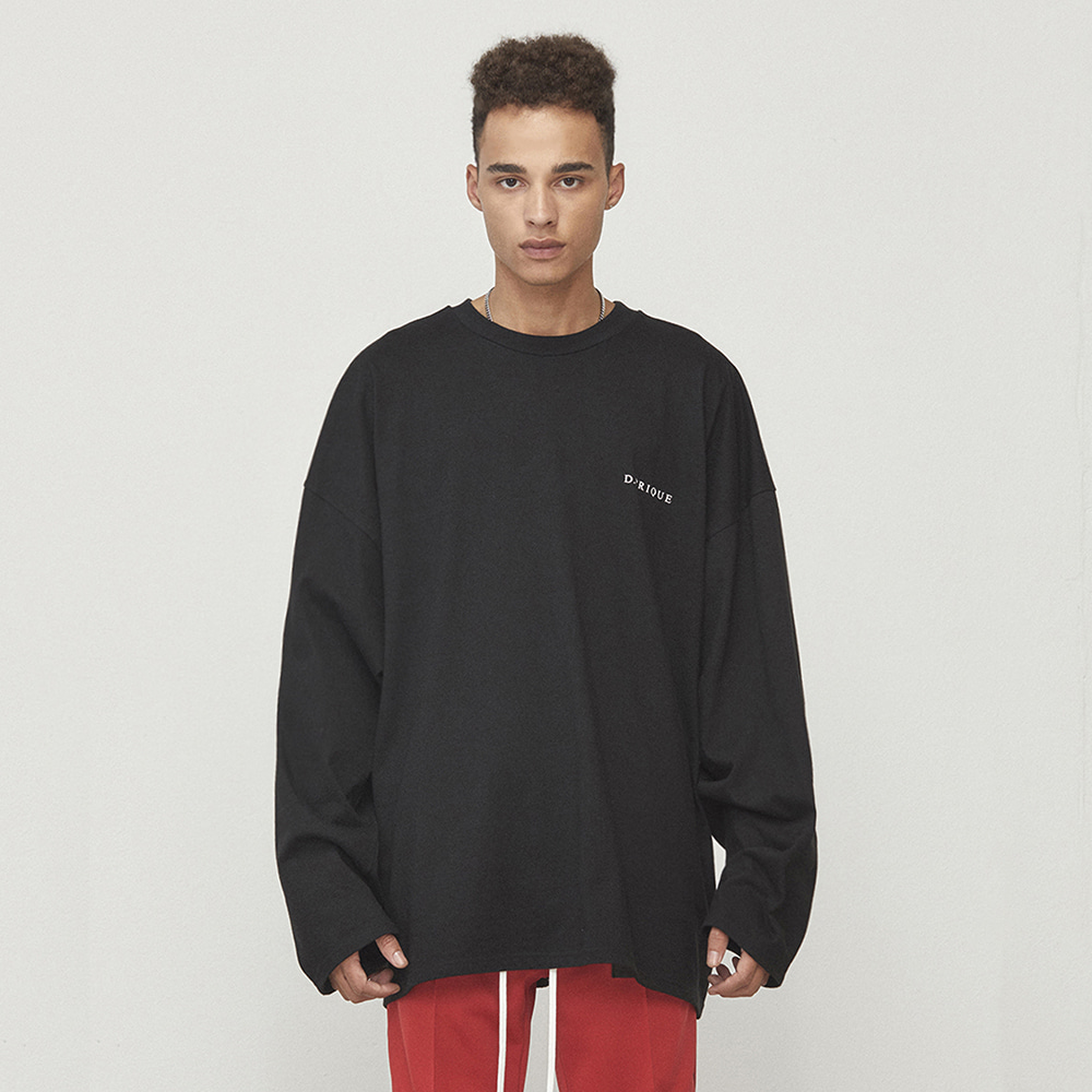 OVERSIZED LONG SLEEVE T-SHIRT (BLACK)