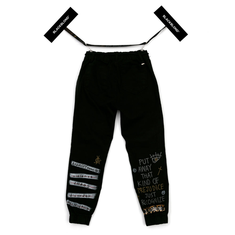 [BLACKBLOND] BRUTAL GRAFFITI JOGGER PANTS (BLACK)