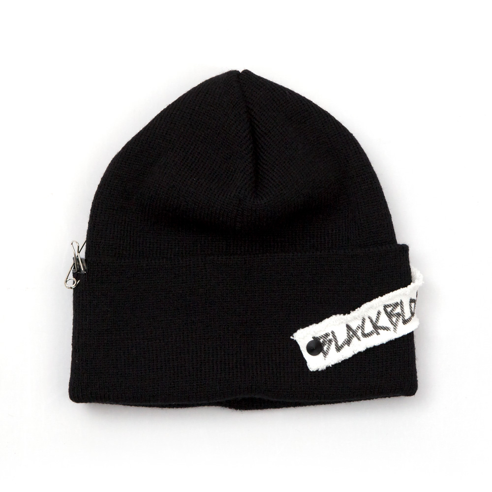 [BLACKBLOND] BBD SIDE PATCH LONG BEANIE (BLACK)
