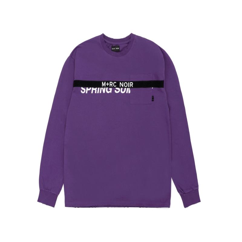 VELCRO LS T-SHIRT PURPLE