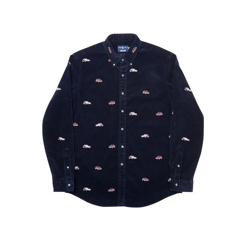 PALACE RALPH LAUREN EMBROIDERED CORD GTI SHIRT AVIATOR NAVY