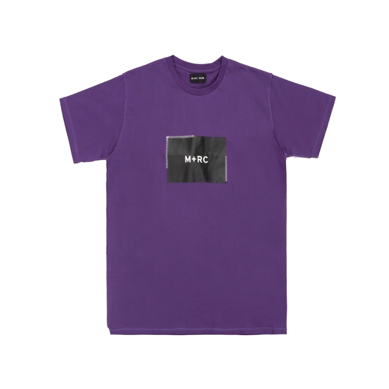 STITCHED BOX LOGO T-SHIRT PURPLE