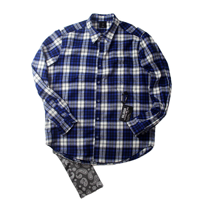 LOVE FLANNEL CHECK SHIRT TRACK.3
