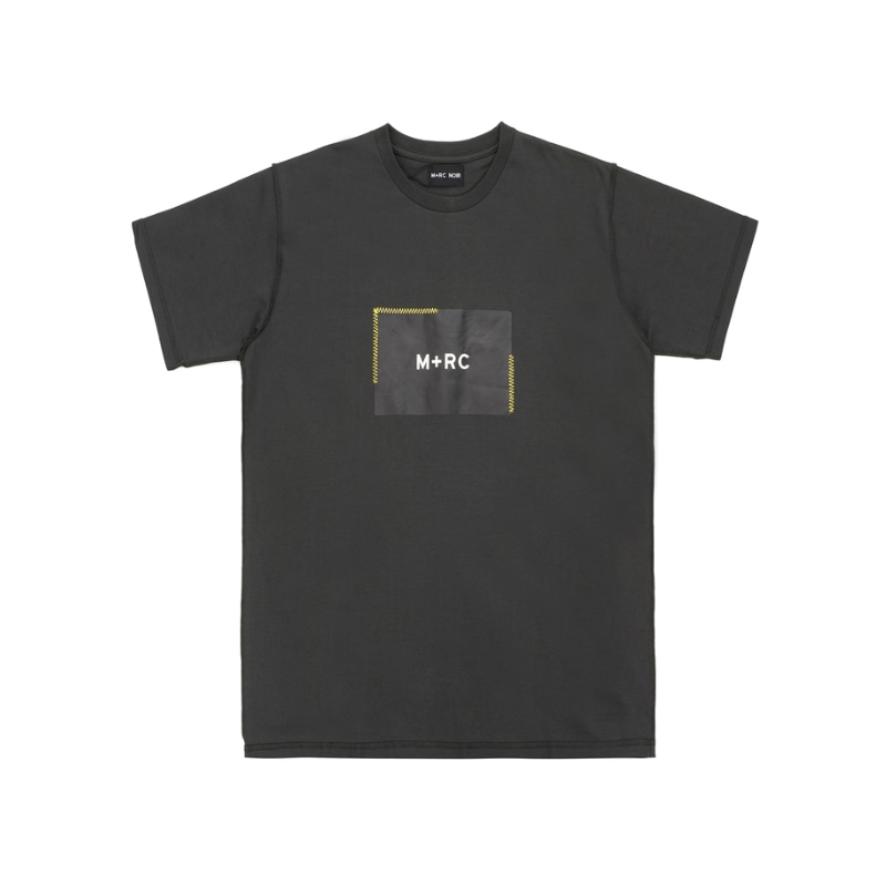 STITCHED BOX LOGO T-SHIRT GREY