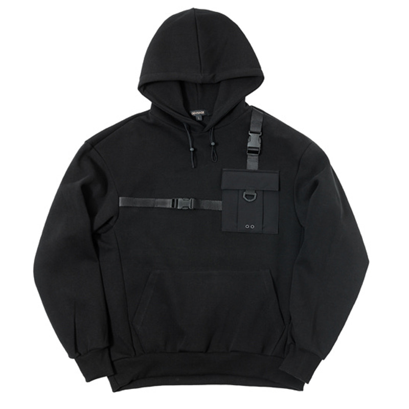 POCKET LINE SWEATSHIRTS (BLACK)