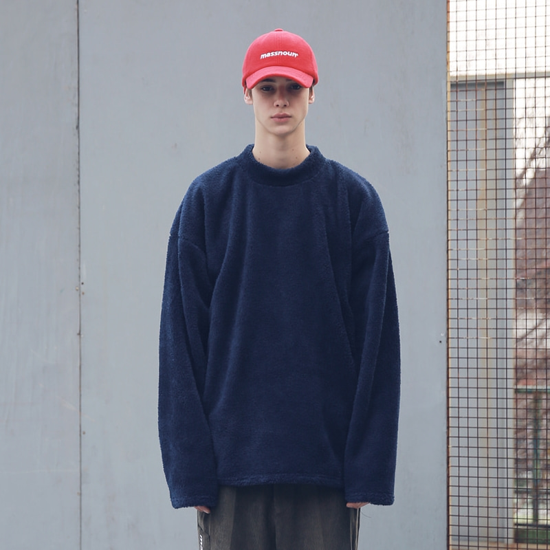 SOFT WOOL SIDEVENT CREW NECK MFECR006-NV