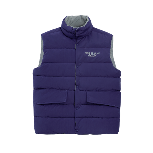ADLV REVERSIBLE PADDING VEST PURPLE / GREY