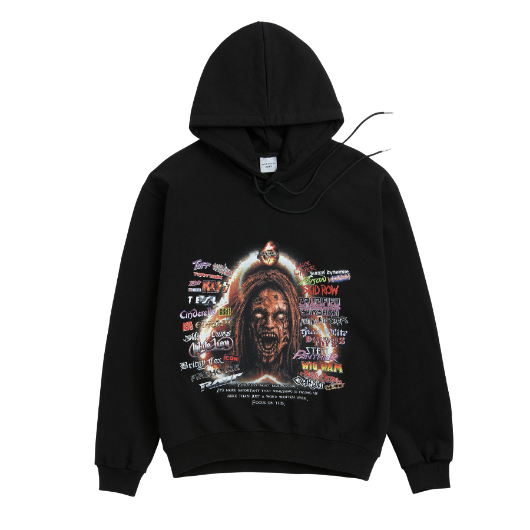 ADLV CARTOON HOODIE ZOMBIE WOMAN