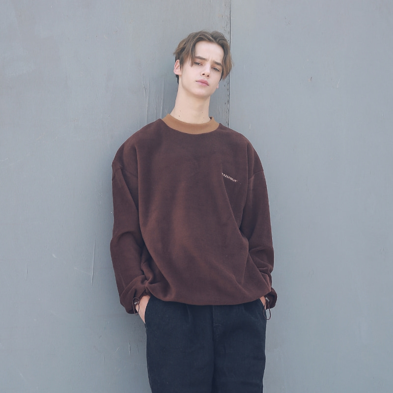 FLEECE SL INT LOGO STRING SWEATSHIRT MFECR004-BR