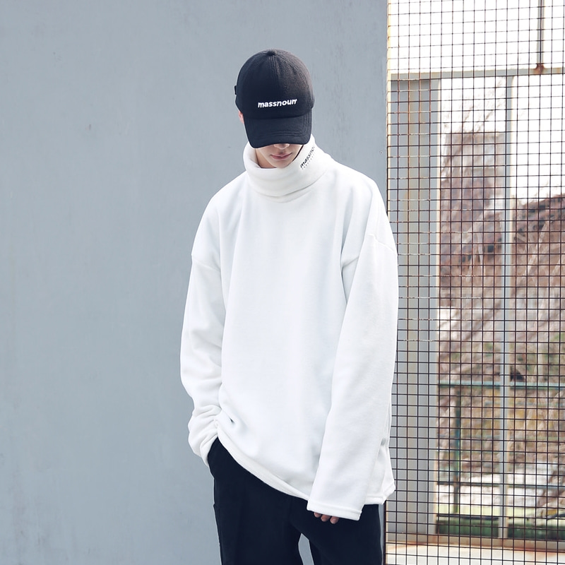 FLEECE SL INT LOGO LONG TURTLE NECK MFECR005-WT