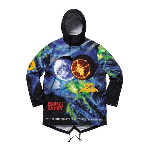 SUPREME X UNDERCOVER X PUBLIC ENEMY TAPED SEAM PARKA