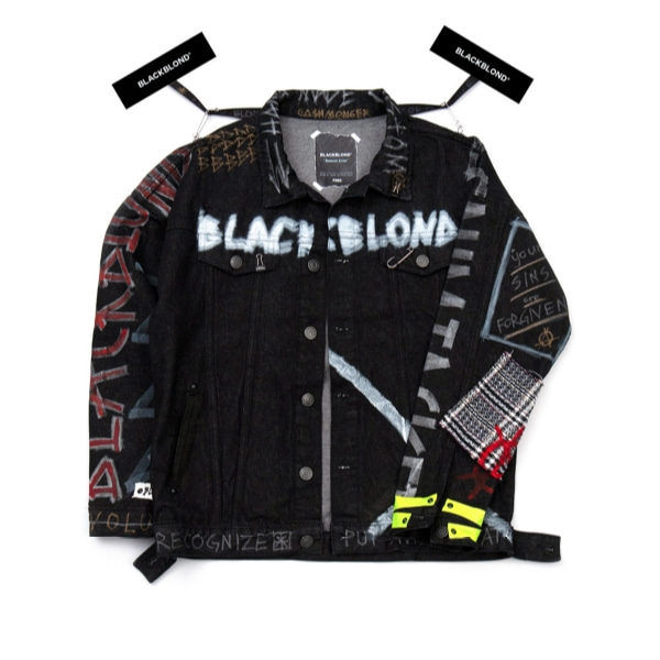 BBD INNOCENT GRAFFITI DENIM JACKET