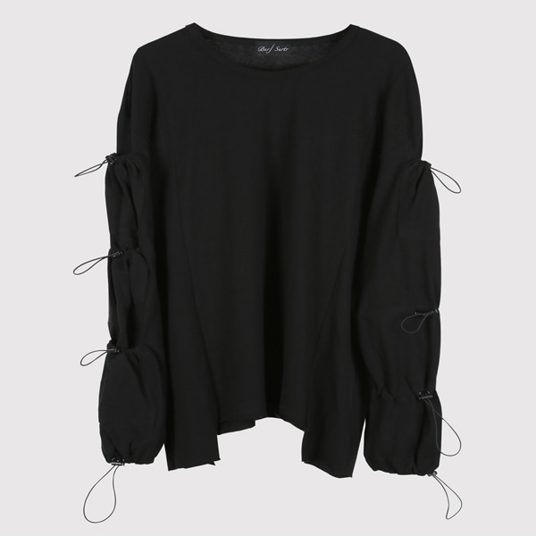 String Long Sleeve Black